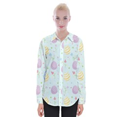 Easter Pattern Womens Long Sleeve Shirt