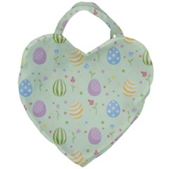 Easter Pattern Giant Heart Shaped Tote
