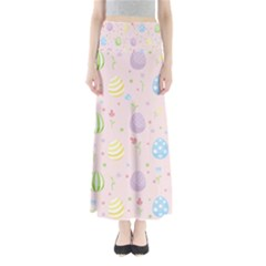 Easter Pattern Full Length Maxi Skirt