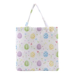 Easter Pattern Grocery Tote Bag