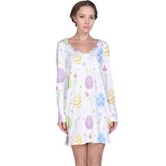 Easter Pattern Long Sleeve Nightdress