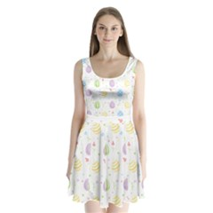 Easter Pattern Split Back Mini Dress