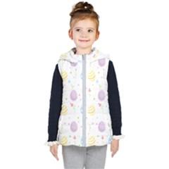 Easter Pattern Kid s Hooded Puffer Vest