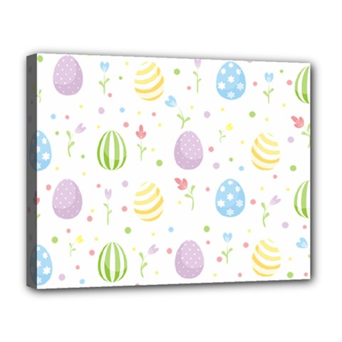 Easter Pattern Canvas 14  X 11