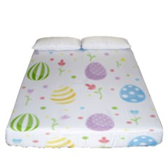 Easter Pattern Fitted Sheet (queen Size)