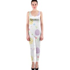 Easter Pattern One Piece Catsuit