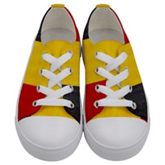 Belgium Flag Kids  Low Top Canvas Sneakers