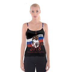 Russia Football World Cup Spaghetti Strap Top