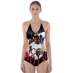 Russia Football World Cup Cut Out One Piece Swimsuit