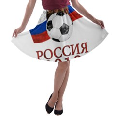 Russia Football World Cup A Line Skater Skirt