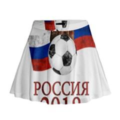Russia Football World Cup Mini Flare Skirt