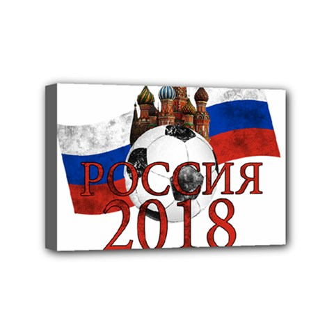 Russia Football World Cup Mini Canvas 6  X 4