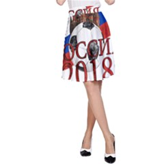 Russia Football World Cup A Line Skirt