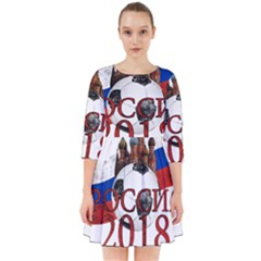 Russia Football World Cup Smock Dress