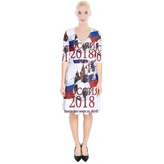 Russia Football World Cup Wrap Up Cocktail Dress