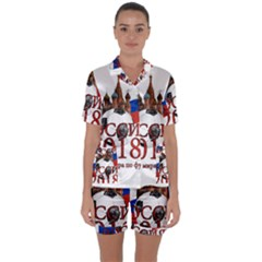 Russia Football World Cup Satin Short Sleeve Pyjamas Set