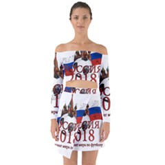 Russia Football World Cup Off Shoulder Top With Skirt Set