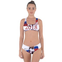 Russia Football World Cup Criss Cross Bikini Set