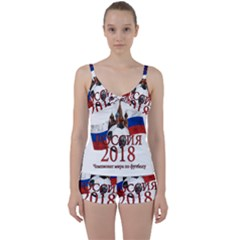 Russia Football World Cup Tie Front Two Piece Tankini