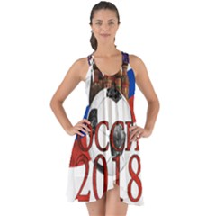 Russia Football World Cup Show Some Back Chiffon Dress
