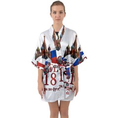 Russia Football World Cup Quarter Sleeve Kimono Robe