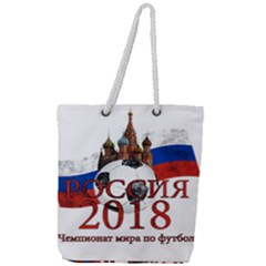 Russia Football World Cup Full Print Rope Handle Tote (large)