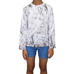 Grunge Pattern Kids  Long Sleeve Swimwear