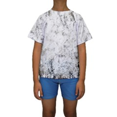 Grunge Pattern Kids  Short Sleeve Swimwear