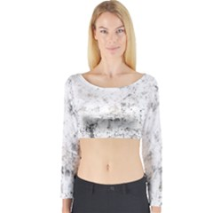 Grunge Pattern Long Sleeve Crop Top