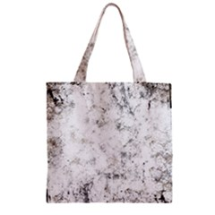 Grunge Pattern Zipper Grocery Tote Bag