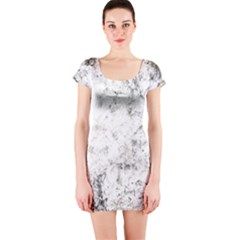 Grunge Pattern Short Sleeve Bodycon Dress