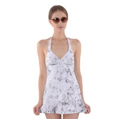 Grunge Pattern Halter Dress Swimsuit