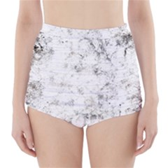 Grunge Pattern High Waisted Bikini Bottoms