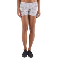 Grunge Pattern Yoga Shorts