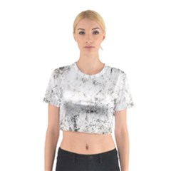 Grunge Pattern Cotton Crop Top