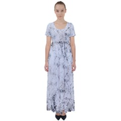 Grunge Pattern High Waist Short Sleeve Maxi Dress