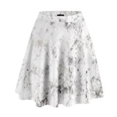 Grunge Pattern High Waist Skirt