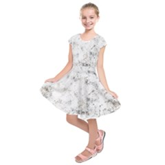 Grunge Pattern Kids  Short Sleeve Dress