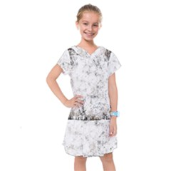Grunge Pattern Kids  Drop Waist Dress