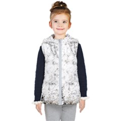 Grunge Pattern Kid s Hooded Puffer Vest