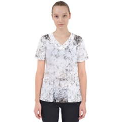 Grunge Pattern Scrub Top