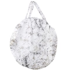 Grunge Pattern Giant Round Zipper Tote