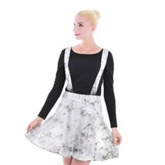 Grunge Pattern Suspender Skater Skirt