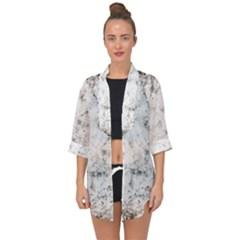 Grunge Pattern Open Front Chiffon Kimono