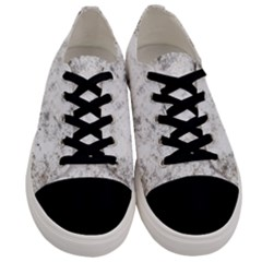 Grunge Pattern Men s Low Top Canvas Sneakers