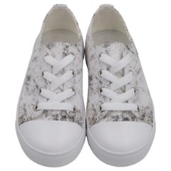 Grunge Pattern Kids  Low Top Canvas Sneakers