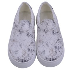 Grunge Pattern Kids  Canvas Slip Ons