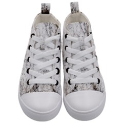 Grunge Pattern Kid s Mid Top Canvas Sneakers
