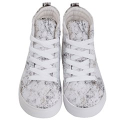 Grunge Pattern Kid s Hi Top Skate Sneakers