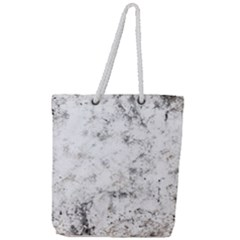 Grunge Pattern Full Print Rope Handle Tote (large)